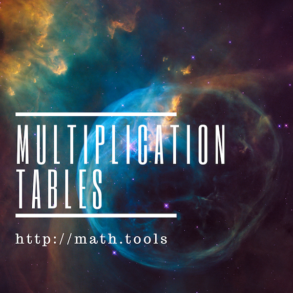 Multiplication Tables 1-20